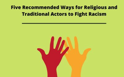 Six Recommended Ways for Religious and Traditional Actors to Fight Racism
