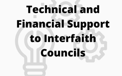 Deadline Extended – Application: Technical and Financial Support to Interfaith Councils