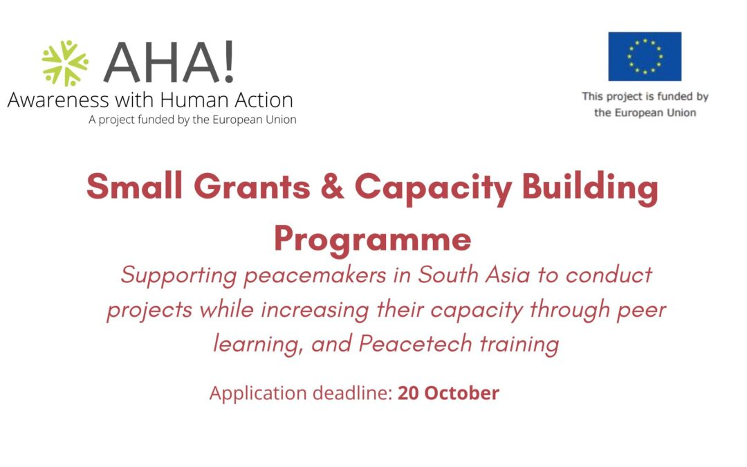 Call for Applicants: AHA! Small Grants and Capacity Building Programme