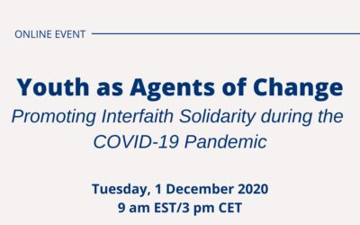 [Event] Youth as Agents of Change: Promoting Interfaith Solidarity during the COVID-19 Pandemic