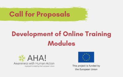 [Call for Proposals] Development of Online Training Modules