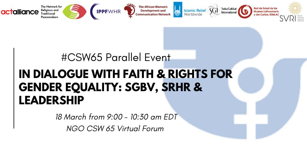 CSW Parallel Event: In Dialogue with Faith and Rights for Gender Equality