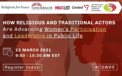 CSW Parallel Event: How Religious and Traditional Actors Are Advancing Women's Participation and Leadership in Public Life