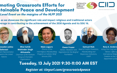 HLPF Side-Event – Setting the Norm: Promoting Grassroots Efforts for Sustainable Peace and Development